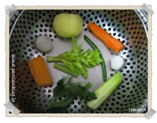 (عکس سبزیجات سوپم)